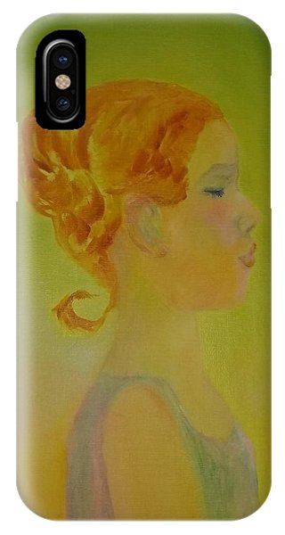The Girl With The Curl IPhone Case