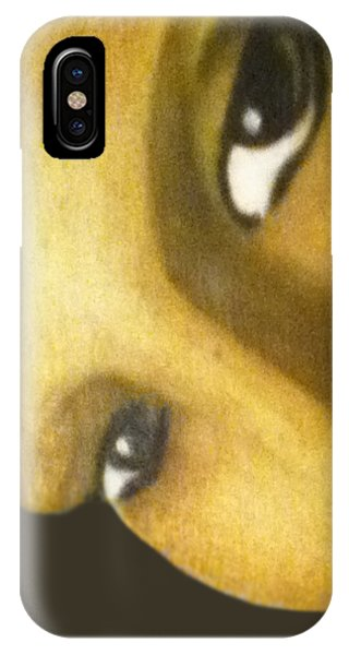 IPhone Case featuring the painting Girl With The Pearl Earring Close Up by Jayvon Thomas