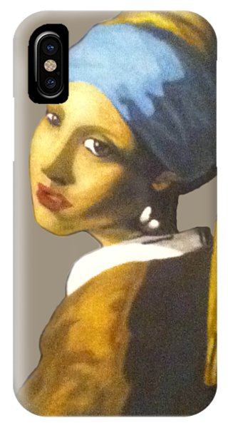 IPhone Case featuring the painting Girl With The Pearl Earring No Background by Jayvon Thomas