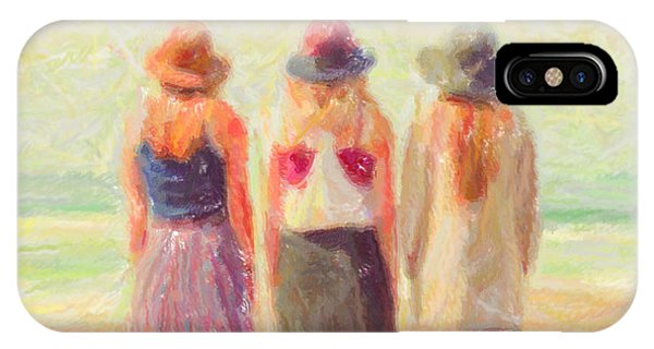 Girlfriends At The Beach IPhone Case