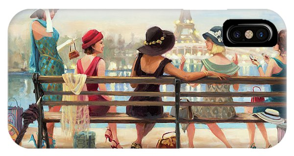 Eiffel Tower iPhone Case - Girls Day Out by Steve Henderson