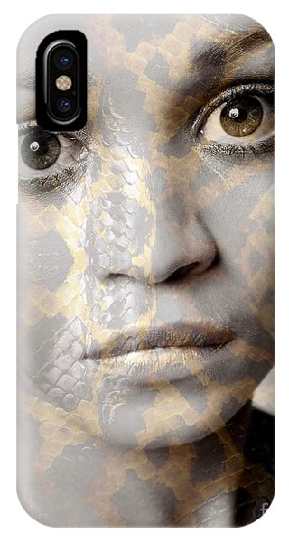 Girls Face With Snake Skin Texture IPhone Case
