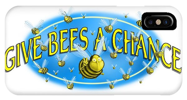 Give Bees A Chance IPhone Case