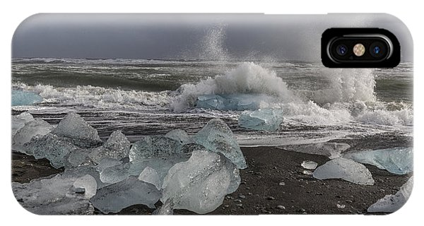 Glacial Lagoon Iceland 2 IPhone Case
