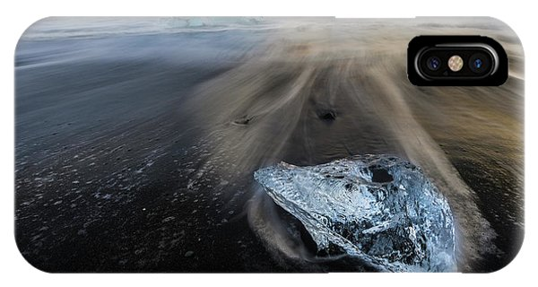 IPhone Case featuring the photograph Glacial Shard by Rikk Flohr