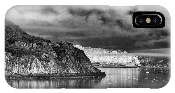 Glacier Bay Alaska In Bw IPhone Case