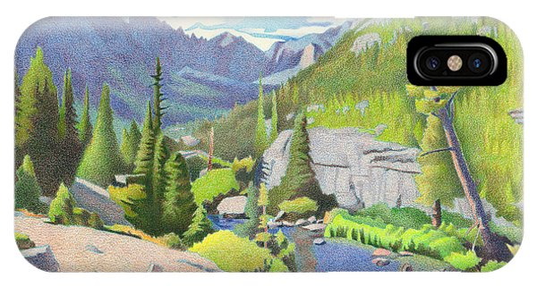 Glacier Gorge IPhone Case