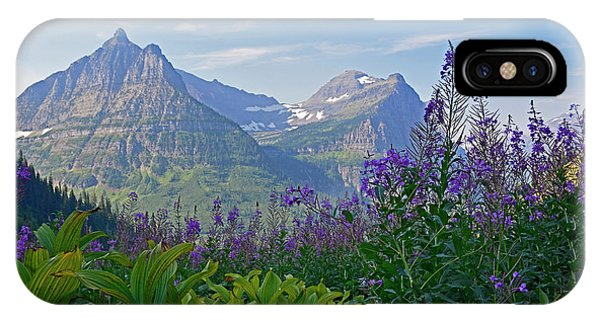 Glacier National Park Fireweed IPhone Case