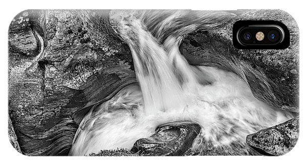 Glacier National Park's Avalanche Gorge In Black And White IPhone Case
