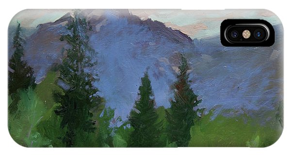 Betty Billups iPhone Case - Glacier Nat'l Park - Plein Air -  Rising Wolf Ranch by Betty Jean Billups