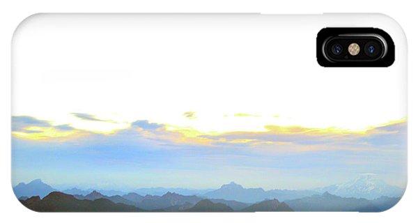 Glacier Peak At Sunrise IPhone Case