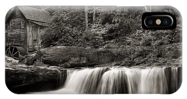 Glade Creek Grist Mill Monochrome IPhone Case