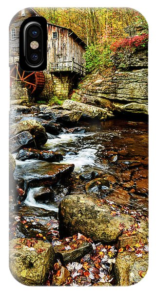 iPhone Case - Glade Creek Grist Mill Fall  by Thomas R Fletcher