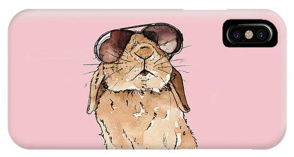 Rabbit iPhone Case - Glamorous Rabbit by Katrina Davis