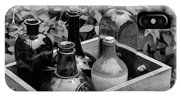 Glass Bottles In The Garden IPhone Case