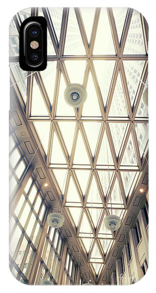 glass ceiling in hall of  new State office  IPhone Case