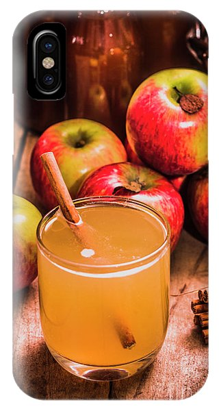 Indoors iPhone Case - Glass Of Fresh Apple Cider by Jorgo Photography - Wall Art Gallery