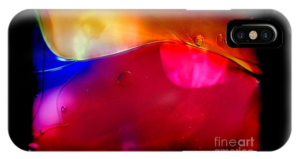 Glass Paint Abstract Dark IPhone Case