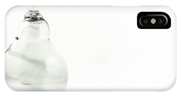 Glass Pear In Black And White IPhone Case