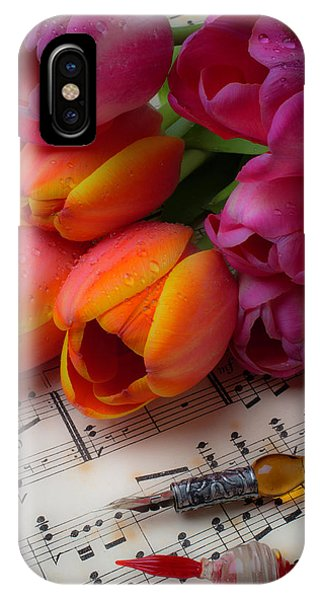 Glass Pens And Tulips IPhone Case