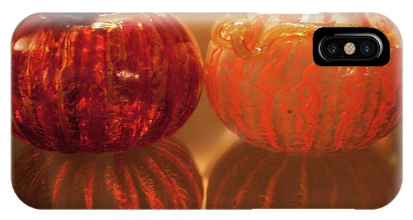 IPhone Case featuring the photograph Glass Pumpkin by Lora Lee Chapman