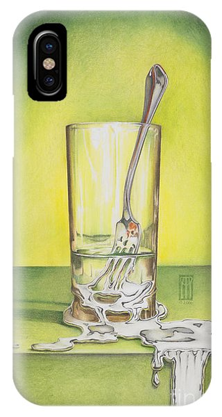 Strange iPhone Case - Glass With Melting Fork by Melissa A Benson