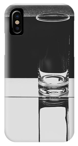 Glasses On A Table Bw IPhone Case