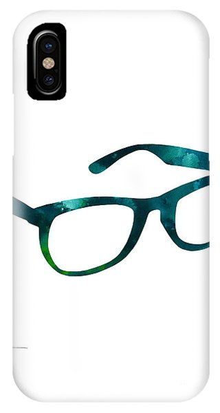 Glasses Silhouette  Watercolor Art Print Poster IPhone Case
