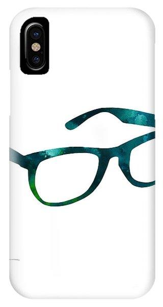 Glass iPhone Case - Glasses Silhouette  Watercolor Art Print Poster by Joanna Szmerdt
