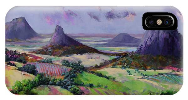 Glasshouse Mountains Dreaming IPhone Case