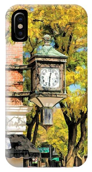 Clock iPhone Case - Glen Ellyn Corner Clock by Christopher Arndt