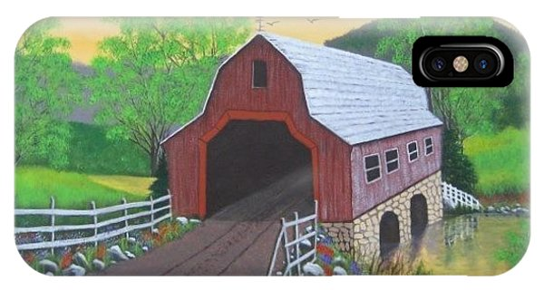 Glenda's Covered Bridge IPhone Case