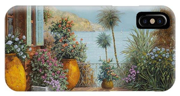 Seascape iPhone Case - Gli Otri Sul Terrazzo by Guido Borelli
