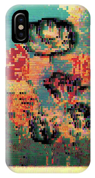 IPhone Case featuring the digital art Glitched Tulips by Bee-Bee Deigner