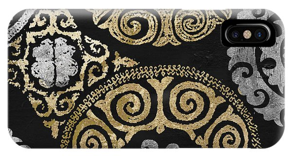 Silver And Gold iPhone Case - Glitterfish I by Mindy Sommers