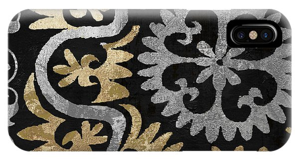 Silver And Gold iPhone Case - Glitterfish II by Mindy Sommers