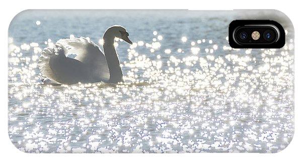 Glitz And Glamory Swan IPhone Case