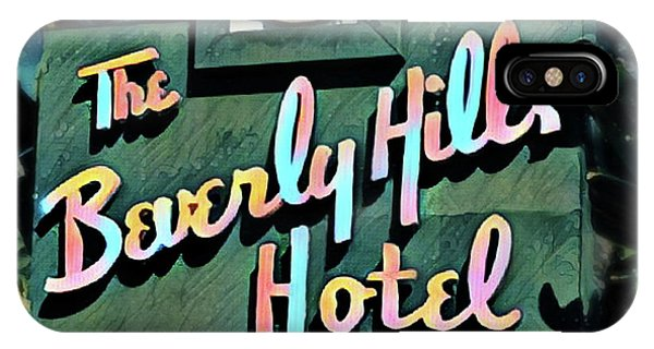 Glitzy Beverly Hills Hotel IPhone Case