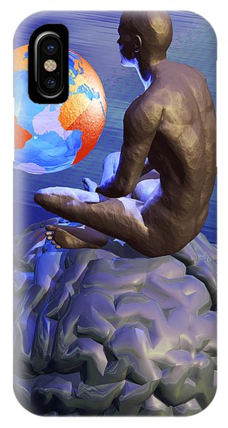 Global Thought, Conceptual Artwork IPhone Case