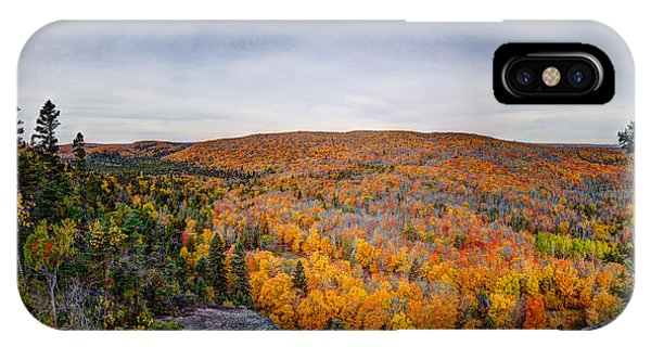 Glorious Autumn Lutsen Mountain Resort North Shore Minnesota IPhone Case