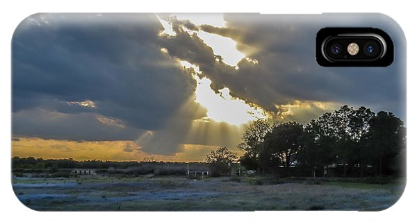 Da211 Glorious Bluebonnet Sunset By Daniel Adams IPhone Case