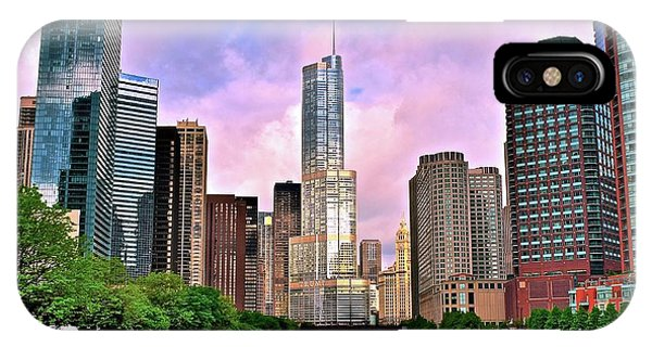 Bean Town iPhone Case - Glorious Windy City Sunrise by Frozen in Time Fine Art Photography