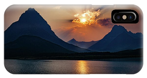 IPhone Case featuring the photograph Glory At Many Glacier by Lon Dittrick
