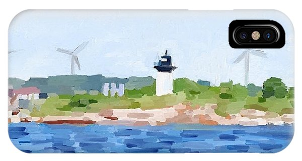 Gloucester Ma Skyline From Harbor IPhone Case