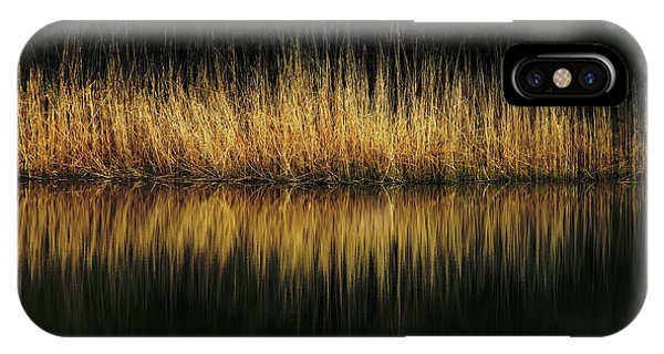 Glow And Reflections At Lakes Edge IPhone Case