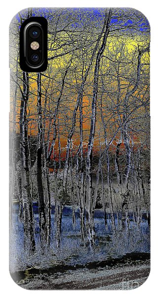 Glowing Aspens At Dusk IPhone Case