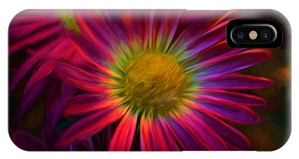 Glowing Eye Of Flower IPhone Case