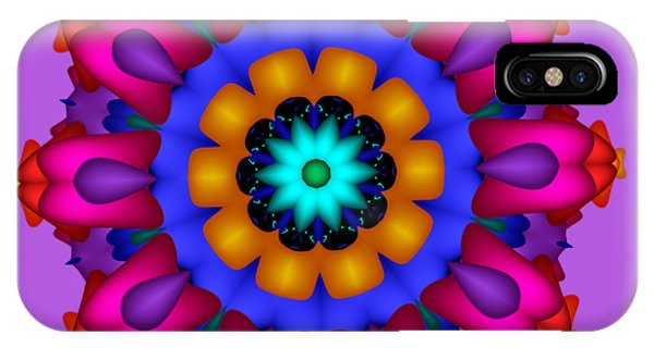 Glowing Fractal Flower IPhone Case