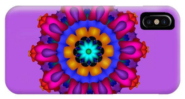 Glowing Fractal Flower IPhone Case