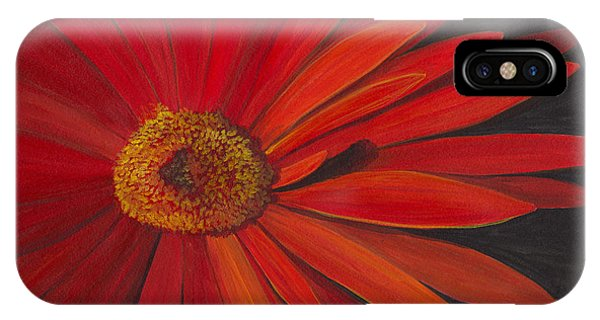IPhone Case featuring the painting Glowing Gerber by Phyllis Howard